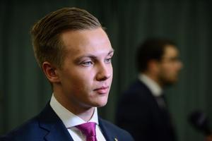 På väg fram. Tobias Andersson, talesperson för ungdomsförbundet Ungsvenskarna, är del av en ny generation SD-politiker som skiljer sig från de tidigare.