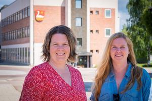 Maria Petersson och  Sandra Säll Jonsson på individ- och omsorgsenheten i Ovanåkers kommun.