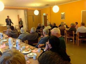 Lennart Hjelm har gästat SPF i Grangärde. Foto: Pia Andersson