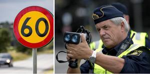 Polisens så kallade trafikveckor genomförs vid tio tillfällen varje år. Nu, vecka 38, är det alltså fartsyndare i fokus. OBS: Genrebild/Montage. Foto: Janerik Henriksson och Christine Olsson/TT.