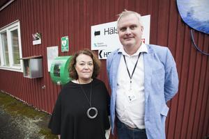 Helena Bikoff och Fredrik Röjd är båda mycket nöjda över satsningen på Hälsorum.