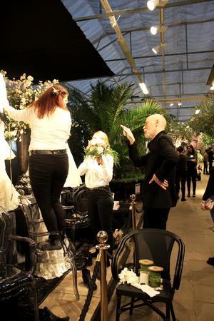 Lars Wallin och teamet på Åsby fixar det sista innan gästerna kommer.