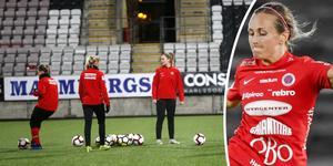 Kif Örebro startade träningen på måndagen – utan något besked om skyttekungen Heather Williams framtid.