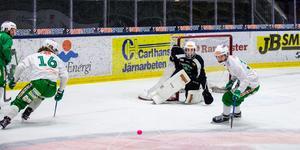 Henrik Kjellsson fick betydligt mindre nät att vakta.
