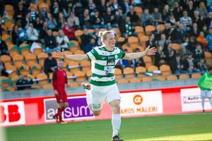 Douglas Karlberg gjorde 1–0-målet på Sollentunavallen.
