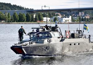 En del kan nog bli lite förvånade när de plötsligt ser stridsbåtar i Sundsvall, enligt Marinen.