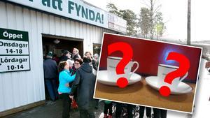 De två kopparna har lämnats in på Erikshjälpen i Rättvik för några veckor sedan. Bilden är ett montage.