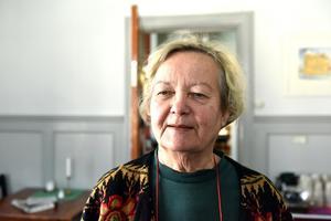 Taina Luodelahti besökte vandrarhemmet för att skriva på sin bok om sin finska släkt.