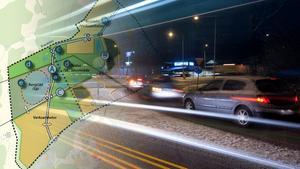 Vägarna vid Erikslund är ofta överbelastad med trafik.Foto:  Per G Norén/ Privat