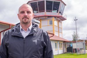 Mathias Viberg är flygplatschef i Härjedalen.