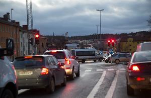 Mycket trafik i Birkakorset.