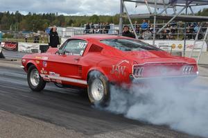 Lars Erik Jonsson från Delsbo testade sin Mustang.