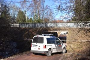 Vakter placerades ut vid den plats i Mora mannen pekade ut där han rånades.