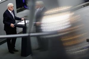 Tysklands nya president Frank-Walter Steinmeie höll på onsdagen sitt invigningstal – som han bland annat riktade mot Erdogan.