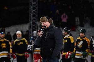 Billy Opel var matchspeaker under Slaget om älven. Foto: Mats Hallin