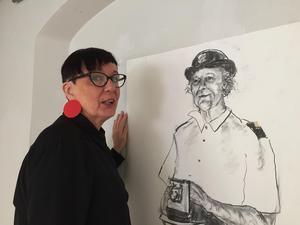 Gunilla Wihlborg ska skapa en bronsstaty av frälsningssoldat Christina Sandberg.