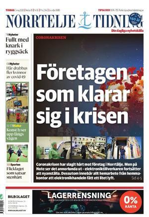 Norrtelje Tidning, 5 maj.