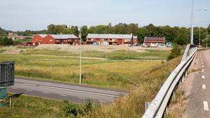 Kvarteret Vattenspegeln vid Åbrinken. Här ska det nya vård- och omsorgsboendet byggas.