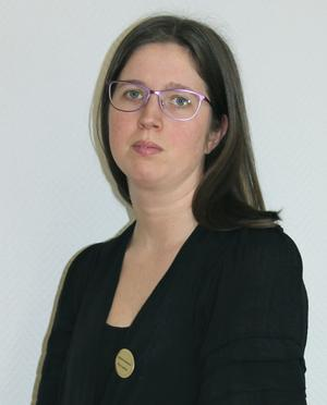 Petra Wallberg på Begravningsbyrån Borlänge –Tunabygden. Foto: Johanna Lindblå.