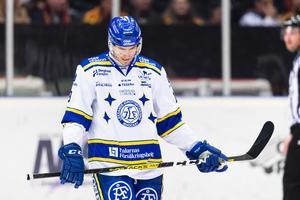 Jon Knuts deppar. Men, ser fram emot att få komma hem och spela i Tegera Arena på lördag mot HV71. Foto: Andreas Sandström/Bildbyrån.