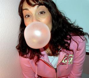 En bubbla bubbelgum. Arkivbild