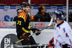 Robert Kousal tvingades lämna isen i den andra perioden mot Linköping. Arkivbild: Bildbyrån