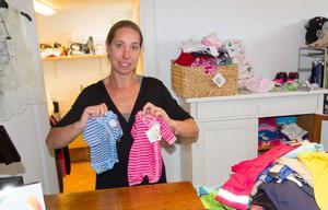 Butiken har kläder från storlek 38. Det är kläder som passar för tidigt födda barn.