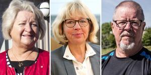 Aneth Arvidsson (S), Lena Lovén Rolén (S), Pentti Lahtinen (S) och flera andra  socialdemokrater i Skinnskatteberg kritiserar oppositionens budgetförslag.