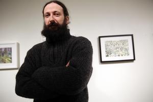 Konstprofessor och konstnär från Syrien, Abdallah Karkout.