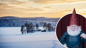 Det kan komma snö på julafton – då känner sig tomten som hemma. Bild: Evelina Ytterbom/Anna-Karin Pernevill (Montage)