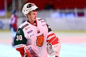 Olof Lindbom ersatte Isak Wallin i målet redan efter 12 minuter. Bild: Bildbyrån
