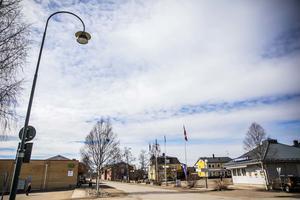 Det var dämpat i Sveg på måndagen.
