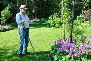 Det blev en oinspirerad sommar i trädgården för Torgny Nordin från Söråker.