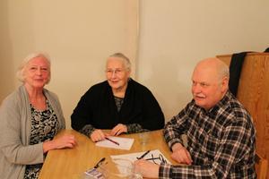 Eva Elsnert, Inga Kronlund och Ulf Karlsson.  Läsarbild: Enar Granqvist.