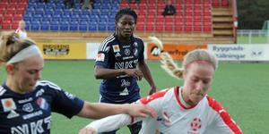 Sarah Michael gjorde två mål och var lättad efter segern mot Borgeby.