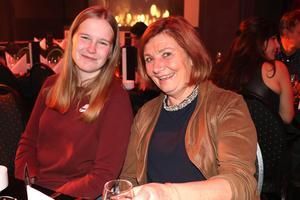 Elin Molander från Platina, och Leena Bergander Wikström hade sällskap under middagen: