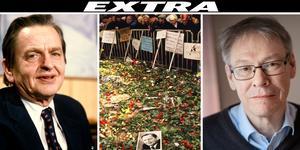 Under onsdagen ska chefsåklagare Krister Petersson (till höger) komma med besked om vad man kommit fram till i utredningen om mordet på Olof Palme (till vänster). I mitten visas hur sörjande samlades på mordplatsen tre dagar efter det tragiska dådet. Foto: Bjørn Sigurdsøn/Rolf Hamilton/ Stina Stjernkvist / TT