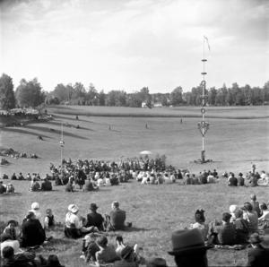 Ansgarsmötet i Gropen 1944. (Foto: Leksands lokalhistoriska arkiv)