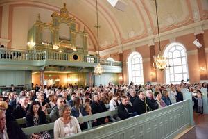 Nästintill fullsatt i kyrkan.