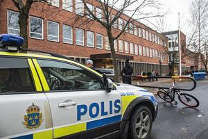 Polisen anlände snabbt efter att de fått larmet.
