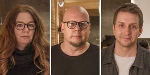 Åsa-Märta Sjöström (S), Niclas Bergström (S) och Marino Wallsten (S).