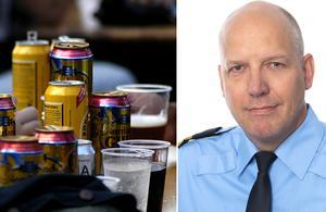 Polisens presstalesperson Jonas Eronen säger att mellan 80 och 100 berusade ungdomar befann sig i Heby under torsdagskvällen.
