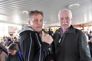 För 40 år sedan var PG Nilssons pappa Per en av i initiativtagarna till Fjätervålen. Sedan var PG VD under många år och en av dem som nu med spänning ser fram emot Fjätervålens utveckling, här tillsammans med Ola Serneke.