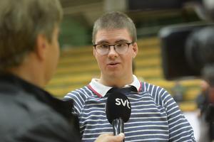 Filip Boman blev intervjuad av SVT.