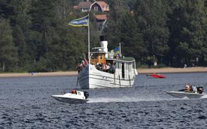 Ångbåten Engelbrekt var i fjol med utom tävlan.