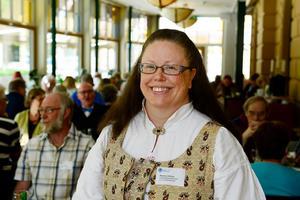 Marlene Jonsson, distriktsordförande i Svenska folkdansringen Medelpad och andre vice ordförande i Svenska folkdansringen.