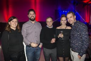Sofia Forsberg, Henric Edberg, Aivars Riekstins, Linda Nyberg och Jonas Bogstedt tyckte att det ett trevligt tillfälle att umgås.