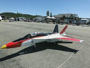 Rekordmånga modellflygare fanns på Hedlanda under helgen