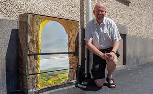 Motivet från ett fönster på Brahehus ner mot Gränna gav Fredrik Gustavsson en vinst i tävlingen.