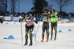 Jerry Arhlin, Zebastian Modin och Emil Jönsson Haag under Östersund Ski Marathon.
